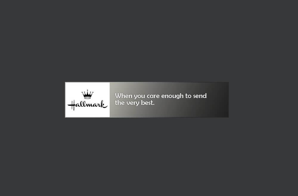 Hallmark slogan