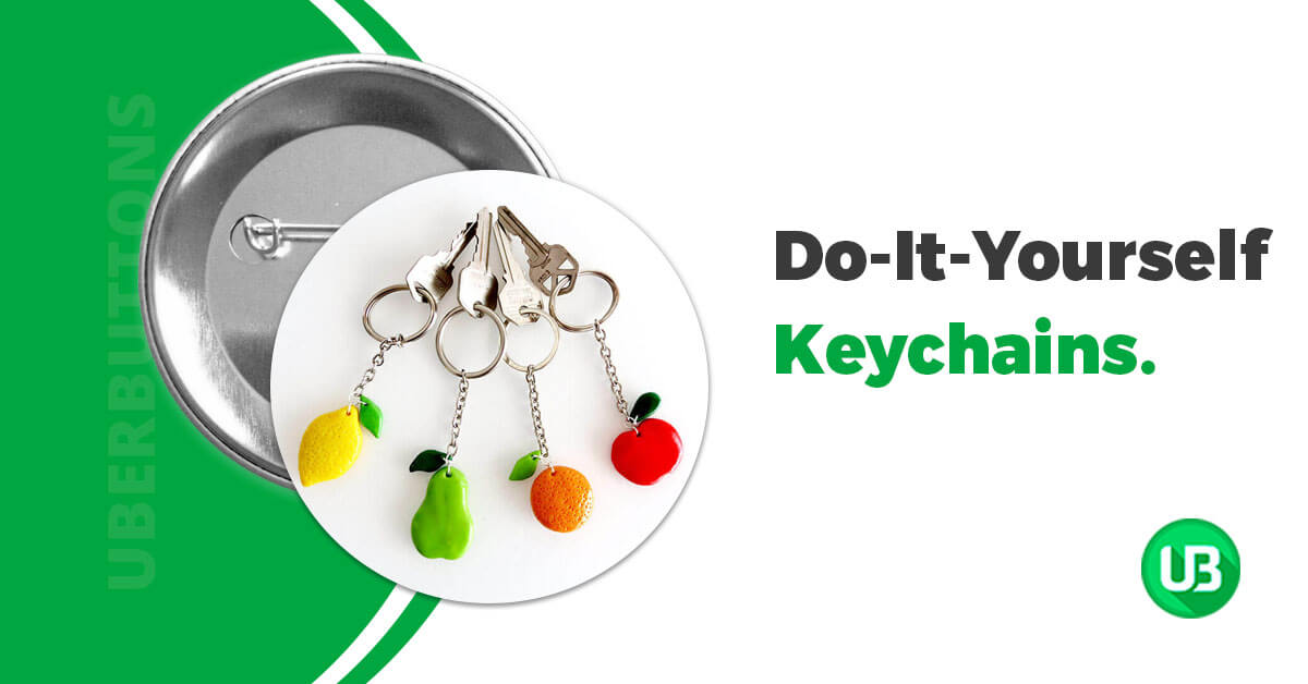 17 Easy Tutorials for Unique DIY Keychains - Uberbuttons®
