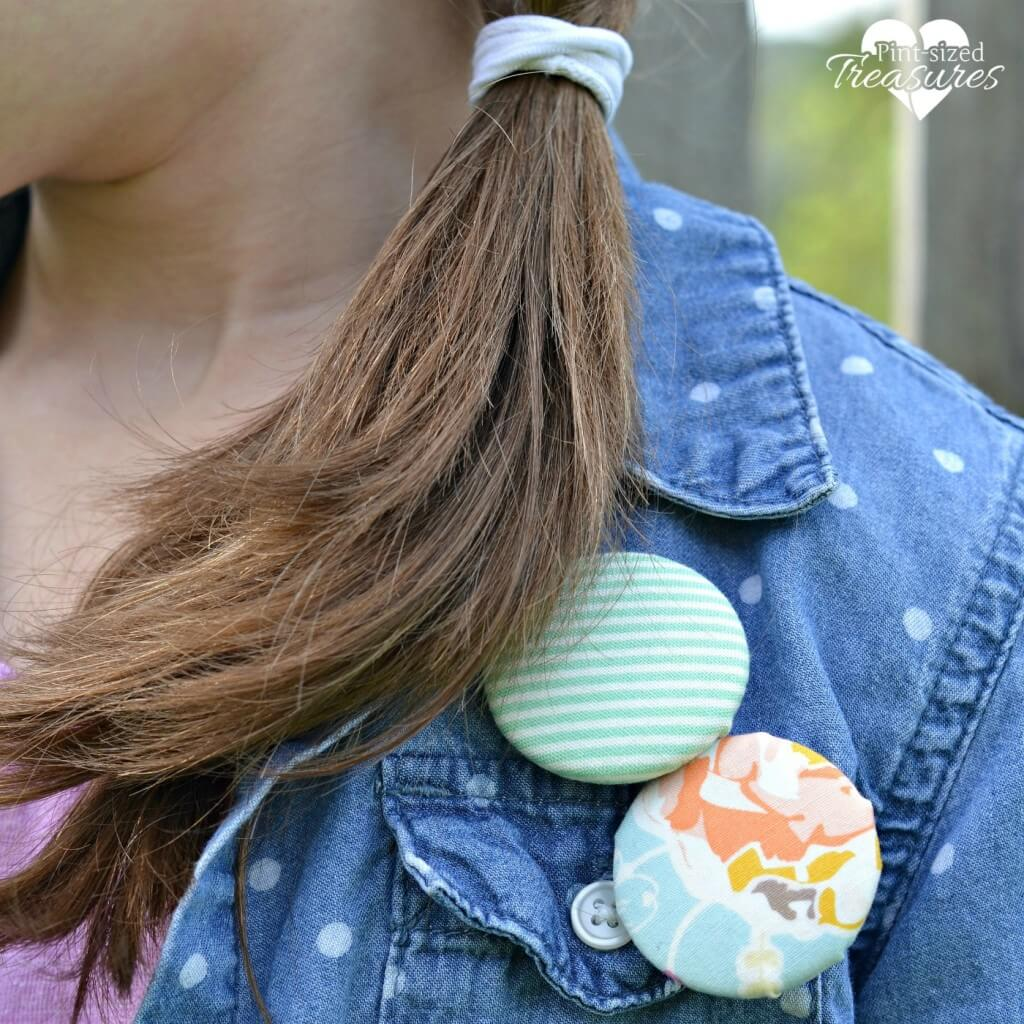 fabric covered pins