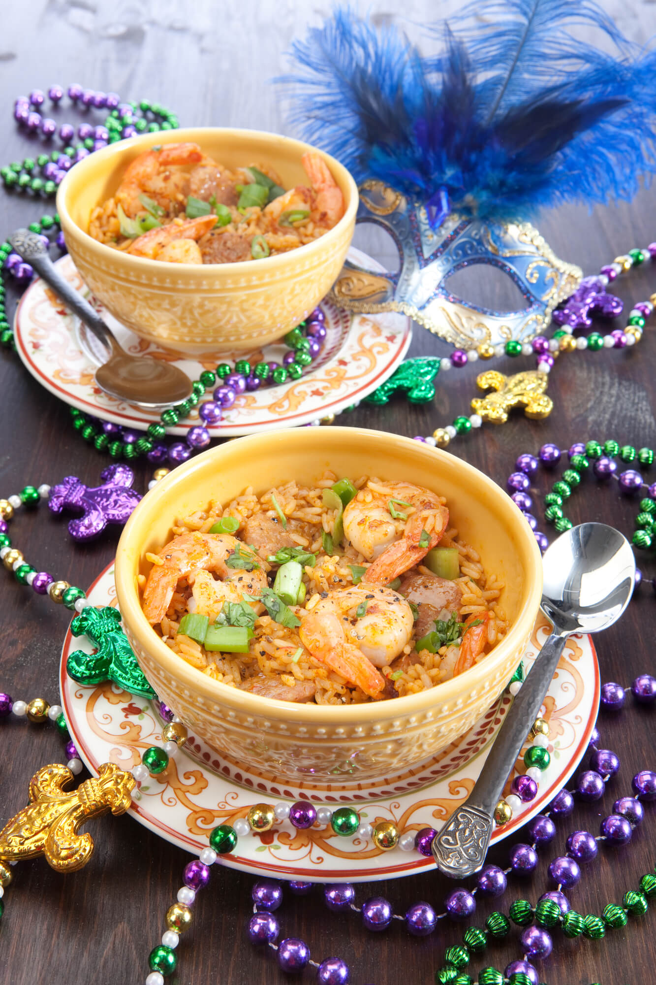 mardi gras bowl of gumbo