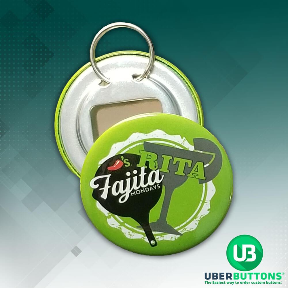 custom button bottle opener