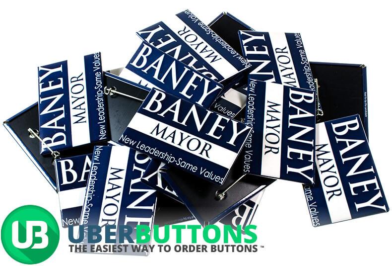 baney mayor mid term election buttons