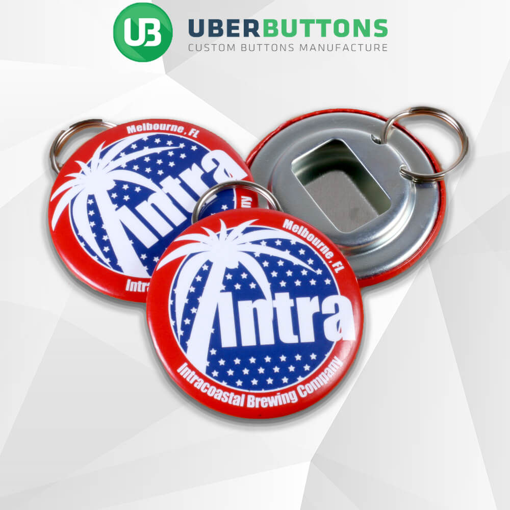 custom button bottle opener