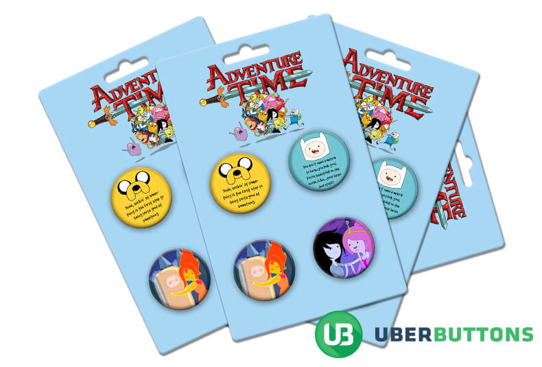 adventure time button pack
