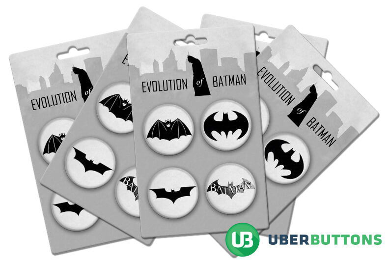 evolution of batman button pack