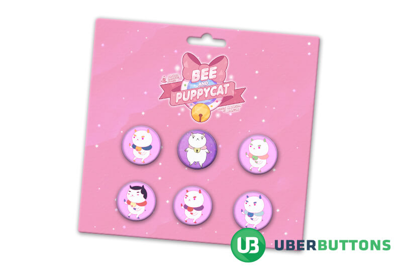 bee and the puppycat button pack