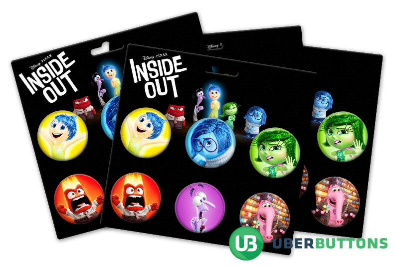 inside out movie button pack