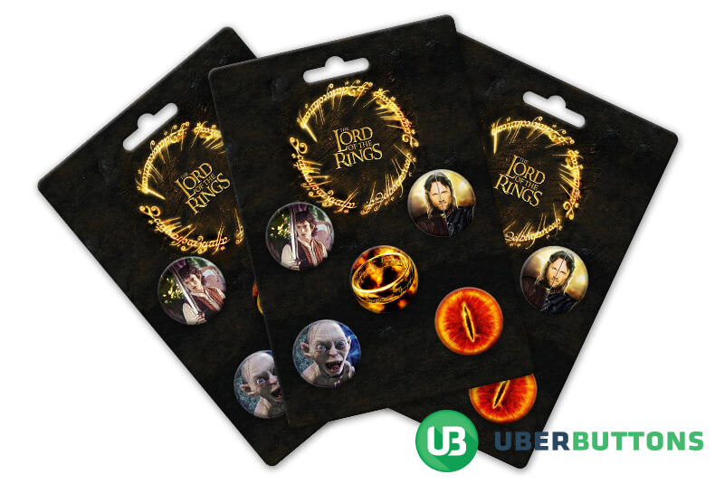 lord of the rings button pack