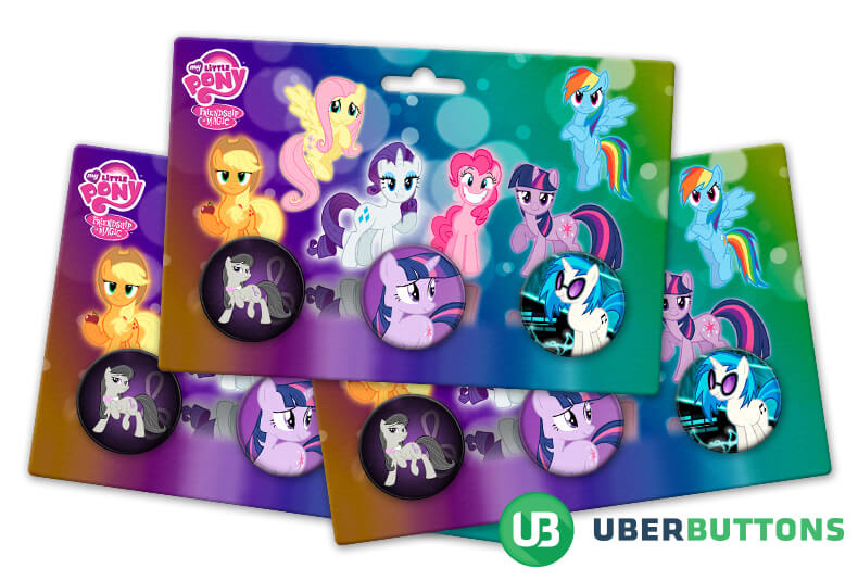 my little pony button pack