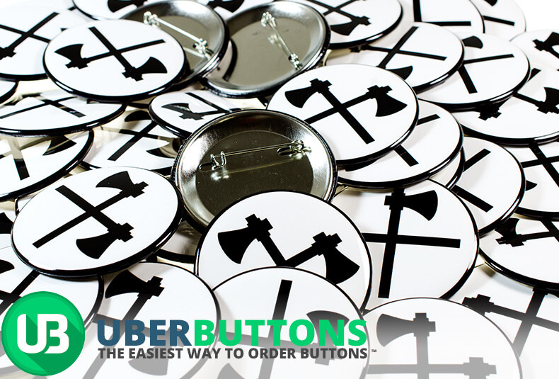 crossed axes custom button