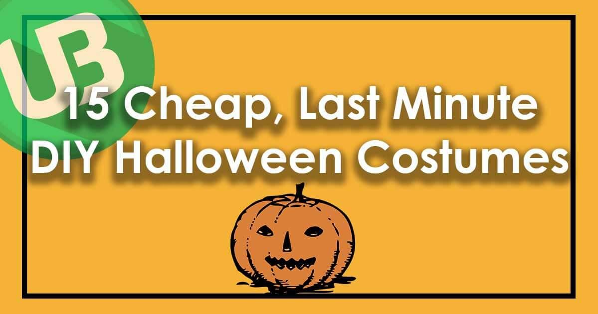 15 Cheap, Last Minute DIY Halloween Costumes