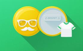 Round Clothing Magnet