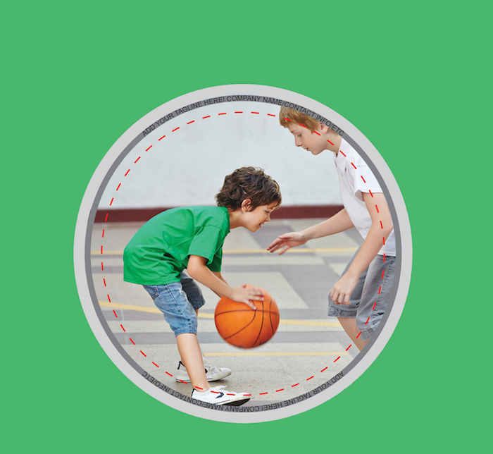 Kids Basketball Button