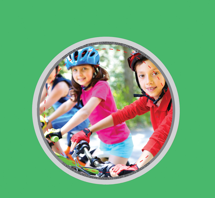Button of kids biking