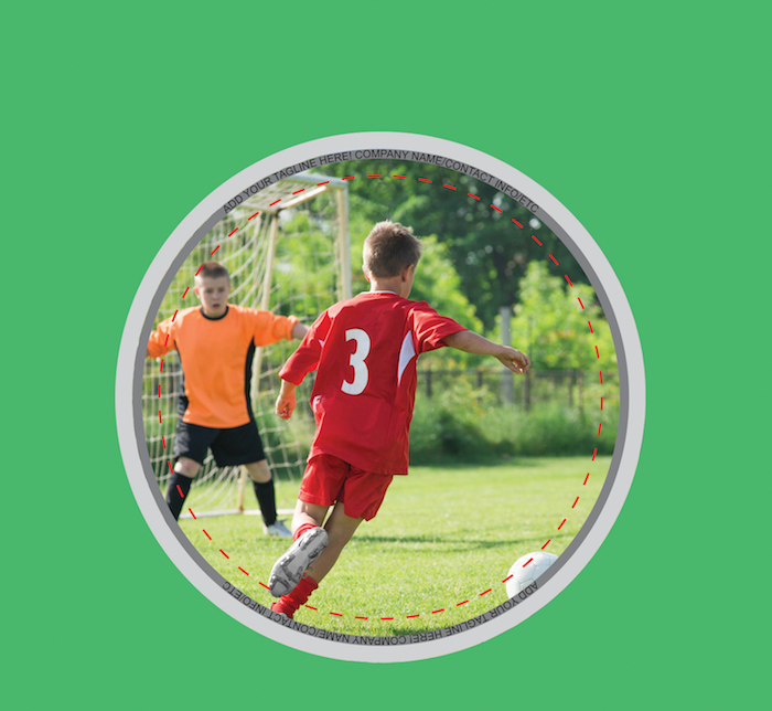 Button for kids soccer